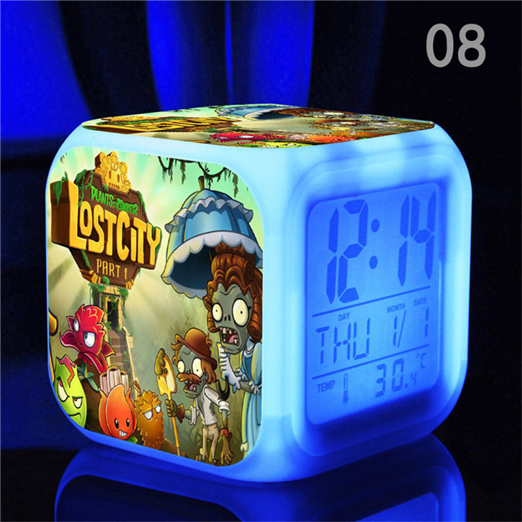 Hot Game Plants Vs Zombies Alarm Clock, 3D Cartoon PVZ Led Alarm - Үйдің декоры - фото 2
