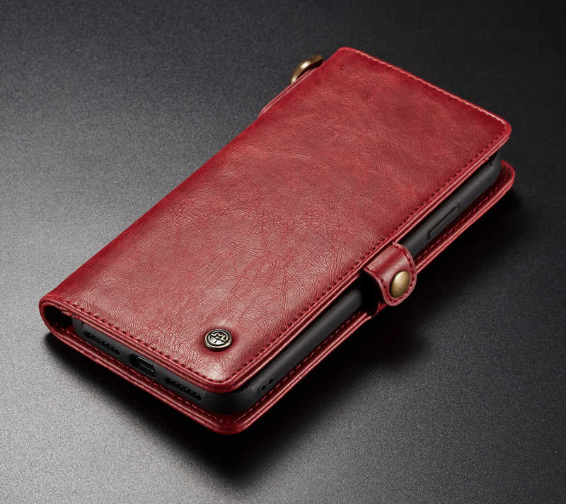 newest 23358 5c2f1 Fashion Wallet Case For iPhone Xs Max XR with Strap Wireless Charging  Magnetic Flip Purse Leather Cover for iPhone X 6 7 8 Plus