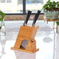 Bamboo tool holder knife block knife rack tool rack kitchen supplies wood knife rack bamboo knife storage rack