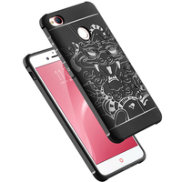 Luxury Protector 3D Carved Dragon High Quality Soft Silicone Shell Cover For ZTE Nubia Z11 Mini