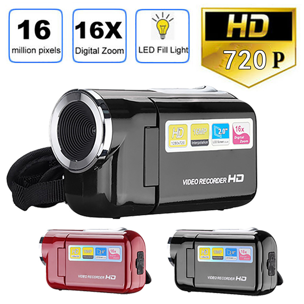 Video-Camcorder Flash Digital-Camera Handheld 16-Million-Pixels LED 720P HD Extended title=