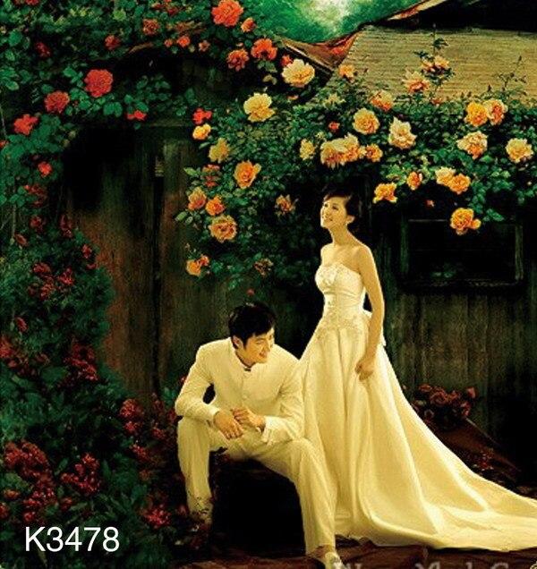 648608992bb1a الطبيعة الخلابة التصوير BackdropK3478 الغامض ، 10ft x20ft اليد رسمت زهرة  صورة خلفية ، الزفاف خلفية الصورة استوديو