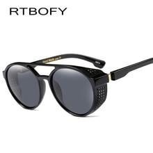 RTBOFY Steampunk Sunglasses for Men and Women Vintage Design Shades Fashion Sun Glasses Goggle UV400