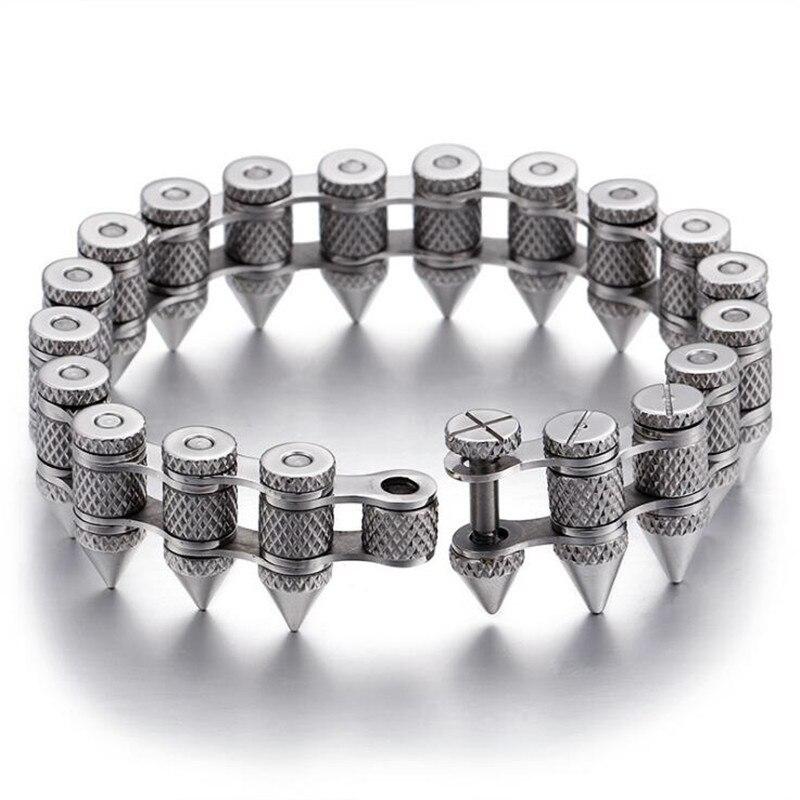 Крутой мужской большой хип хоп цепочка браслет AAAAA Cz серебряный золотой цвет вечерние юбилейный браслет для мужчин рок ювелирные изделия ши... - 3