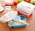 De alta Qualidade Caixa de Bento Bento Lunch Box Totalmente Selado compartimentos de Alimentos Tigela de Sopa Com Colher De Plástico Pratos Refeição de Microondas (00099)