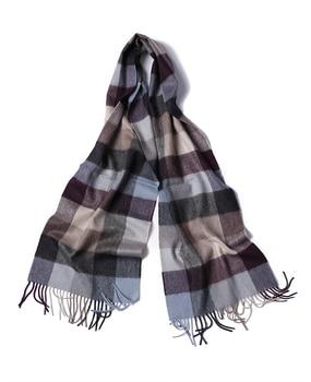 100% goat cashmere unisex classical retro plaid scarf shawl pashmina 180x30cm purple 2color retail wholesale