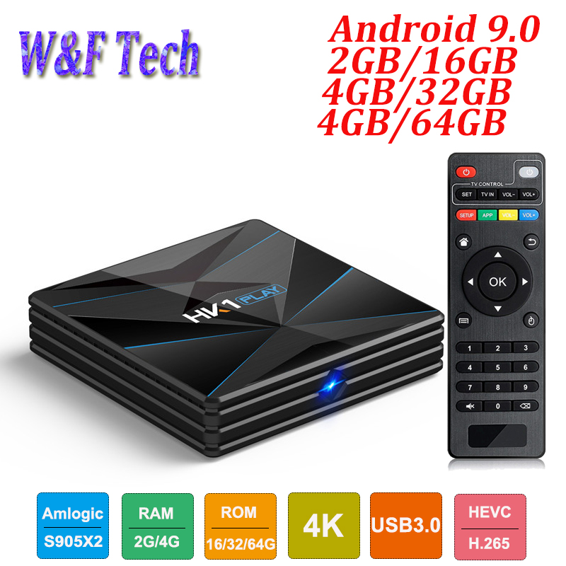 HK1 PLAY 4GB 64GB Android 9 0 TV BOX Amlogic S905X2 Quad Core 4K H 265
