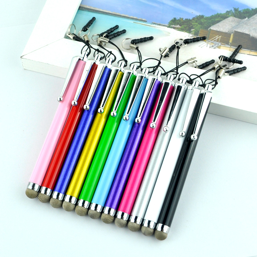 2016 10 teile/los kapazitiven touchscreen stylus pen für iphone 5 4 s...