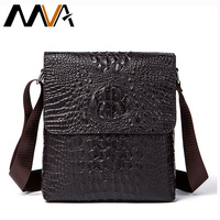 MVA Alligator Pattern Men Messenger Bag Male Men Bags Business Genuine Cow Leather Black Shoulder Bag