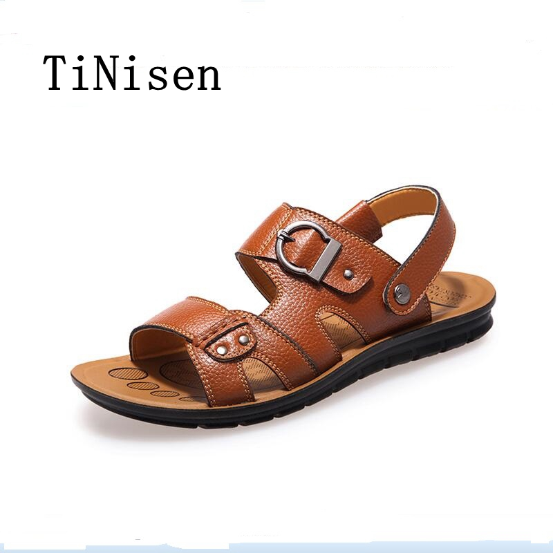 Sandalia masculina Genuine Leather Men Sandals Summer Men Shoes New 2018 Designer Male Beach Shoe