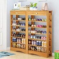 Simple multifunctional shoe rack Economic type dustproof shoe rack Multi layer combination storage cabinet Home Furniture