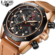 LIGE Mens Watches Military Quartz Masculino Sport Top-Brand Waterproof Luxury Relogio