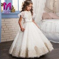 2017 miayi Дети младенческой девушка лепестки платье Элегантное детское платье подруги невесты Пышное официальная Вечеринка платье