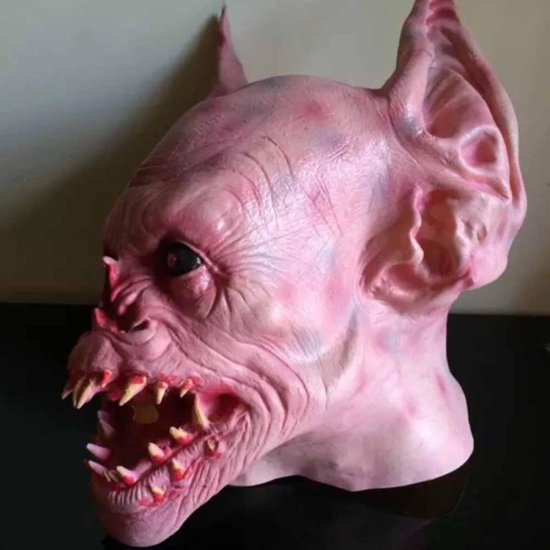 Scary Halloween Mascherina di Orrore Devils Cosplay Tatuaggio Denti In Lattice Oversize mascara Maschera di Halloween Costume Del Partito Maschere spaventose S3