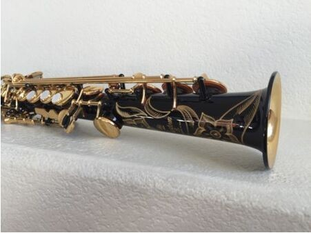 imported saxophone Yss-82Z B high-quality 82Z Soprano Black Sa lacquer gold negro Gorgeous Musical Instruments Free shipping brand new soprano saxophone yss 475 bronze b flat playing professionally one straight top musical instruments professional grade