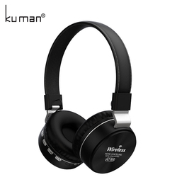 Kuman Sports Headsets Stereo Wireless Headphones HIFI Bluetooth Earphone with 3.5mm Conversion Line For Phone PC Gaming YL-HH2