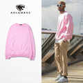 Men Sweatshirts Fashion Pink Hiphop pullover Original Tide brand Full Sleeved Pullovers men and women Couples Tops S-XXXL