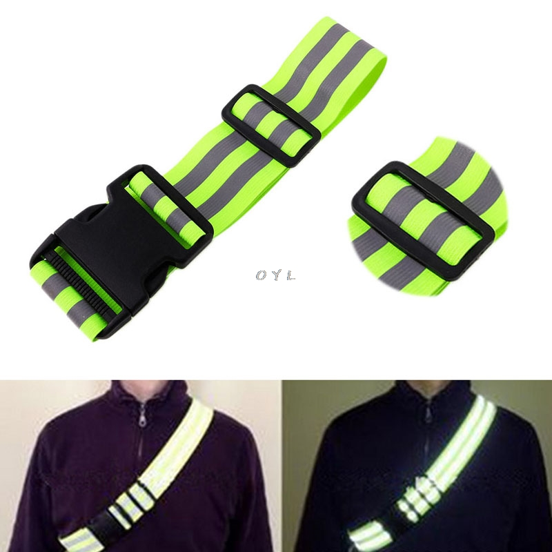Image 3 - High Visibility Reflective Safety Security Belt For Night Running Walking Biking-in Reflective Material from Security & Protection