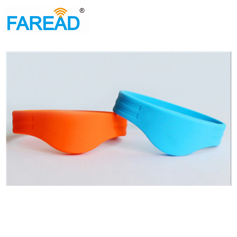 Free Shipping RFID Wristband  13.56mhz Ntag216 888bytes NFC For Ticket System And Harsh Environment  100pcs/lot
