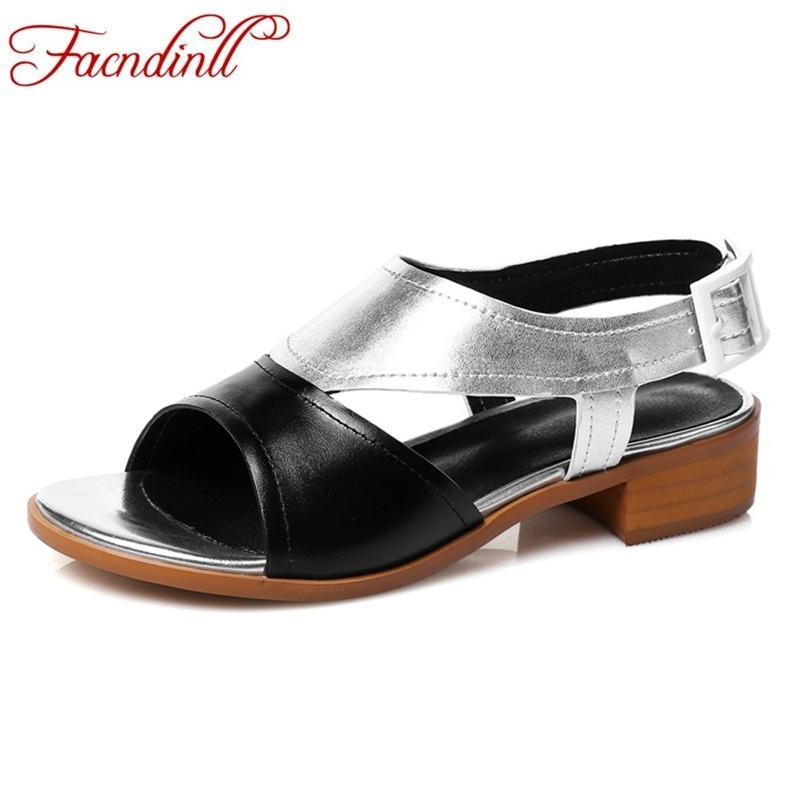 FACNDINLL new summer shoes genuine leather patchwork heels party date shoes women beach sandal high heels casual women sandals facndinll new women summer sandals 2018 ladies summer wedges high heel fashion casual leather sandals platform date party shoes