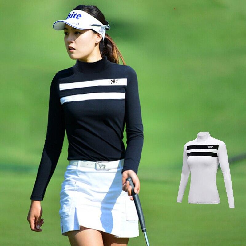 2019 Autumn Sportswear Womens Shirts Golf Clothes Long Sleeve Shirt Women Sport Apparel Sunscreen Stripe Bottoming 1