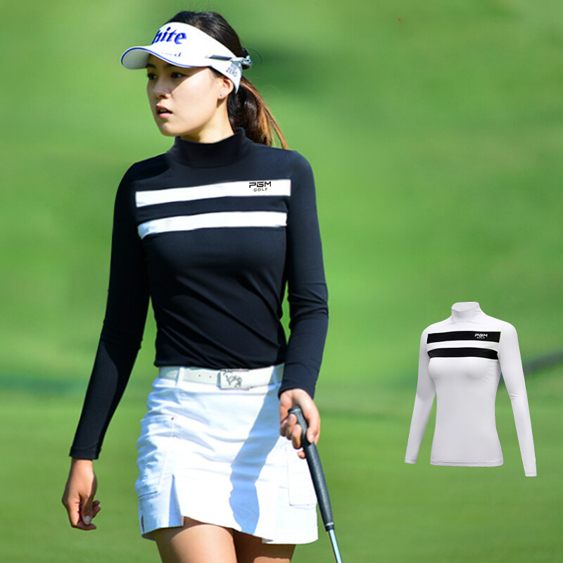 2019 Autumn Sportswear Womens Shirts Golf Clothes Long Sleeve Shirt Women Sport Apparel Sunscreen Stripe Bottoming