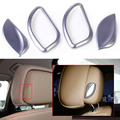 fit for BMW 5 series F10 F18 2011 2012 2013 2014 2015 4pcs New ABS Front Seat Headrest Switch Adjust Button Cover Trim