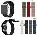 Для Apple Watch Band 42 мм Корреа Кожаную Петлю Диапазон Премиум Мягкая Регулируемая Магнитным замком для iWatch Ремень Темно-Синий