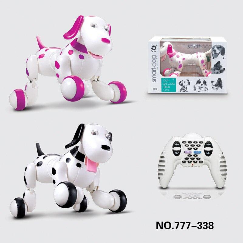 Robot chien télécommande Smart chiot 2.4G sans fil électronique Animal de compagnie jouets éducatifs pour le cadeau d'anniversaire des enfants