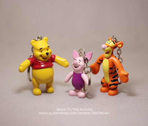 Disney Winnie the Pooh Tigger Piglet 3pcs/set 5-6cm Action Figure Anime Decoration Collection Figurine Toy model for children figurine