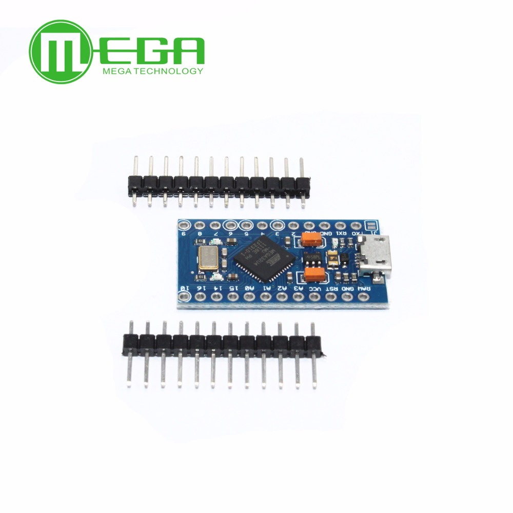 Image 4 - 5pcs Pro Micro ATmega32U4 5V/16MHz Module with 2 row pin header MINI USB MICRO USB-in Integrated Circuits from Electronic Components & Supplies