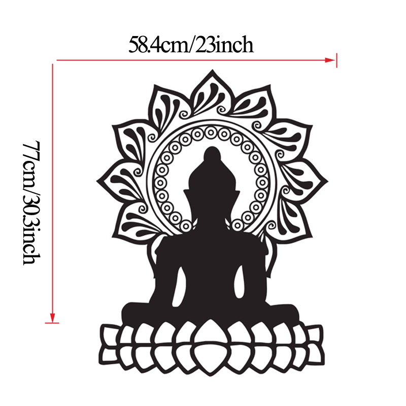 Buddha wall stickers indian design lotus flower vinyl stickers buddha wall stickers indian design lotus flower vinyl stickers buddhism symbol home interior art murals bedroom decor in wall stickers from home garden mightylinksfo