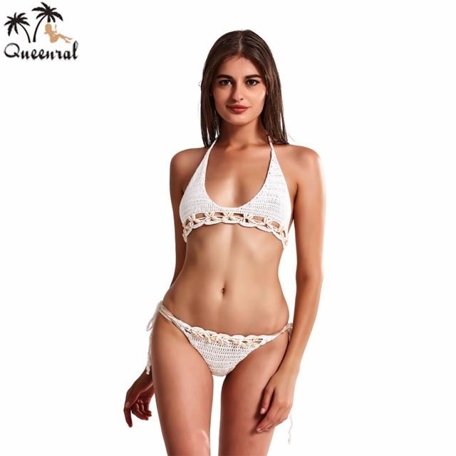 Costume da bagno Costumi Da Bagno Donna bikini all\'uncinetto Costume ...