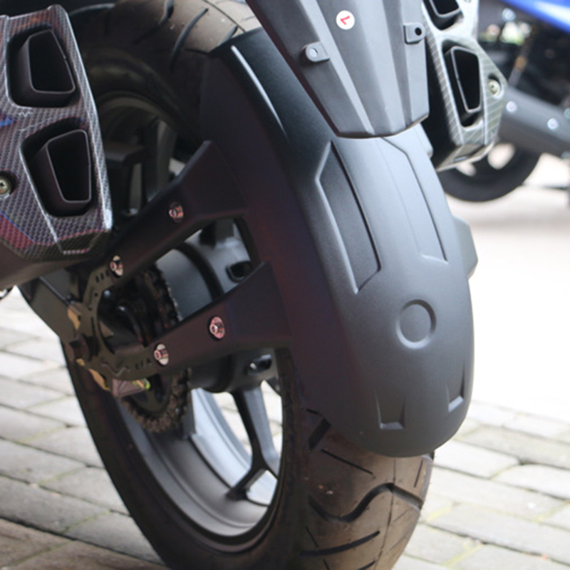 Guardabarros trasero de metal negro para motocicleta Motocicleta universal Guardabarros trasero Rueda Guardia contra salpicaduras cubierta Guardabarros