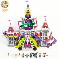 2018 NEW LEPIN 07090 3857pcs Batman super hero series The Joker Manor Building Block Set Brick Toys For Children 70922 Gift