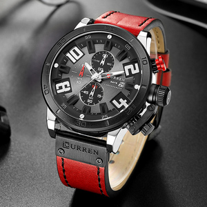 Image 2 - 2019 CURREN Chronograaf Mannen Horloges Top Luxe Merk Mode Quartz Horloge Heren Outdoor Sport Leger Klok Relogio Masculino