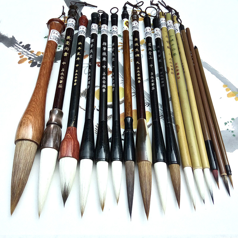 цены Calligraphy Chinese Traditional Calligraphy Set Brush Landscape Painting Brush Weasel Hair Pen Writing Brush Set for Students