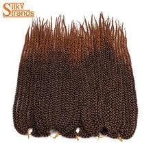 Silky Strands 22inch 120g 3D Cubic Twist Crochet Braids 12Roots Ombre Crochet Hair Extensions Kanekalon Fiber Braiding Hair Bulk