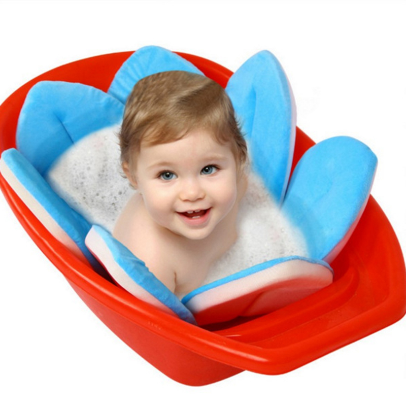 Baby Bathtub Foldable NewBorn Baby Supplies Flowers Shape Bath Soft ...