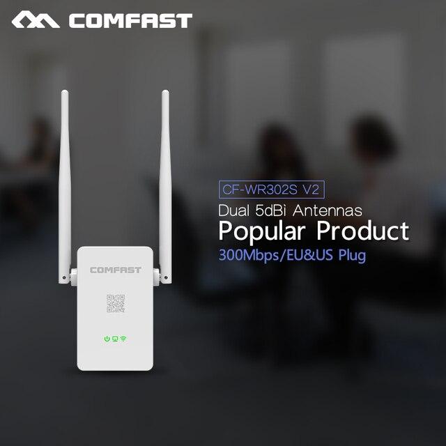 COMFAST WIFI Повторитель 300 Мбит Беспроводной range Extender 802.11n/b/g wi-fi Усилитель сигнала booster 5 дби Антенны Repetidor Wifi