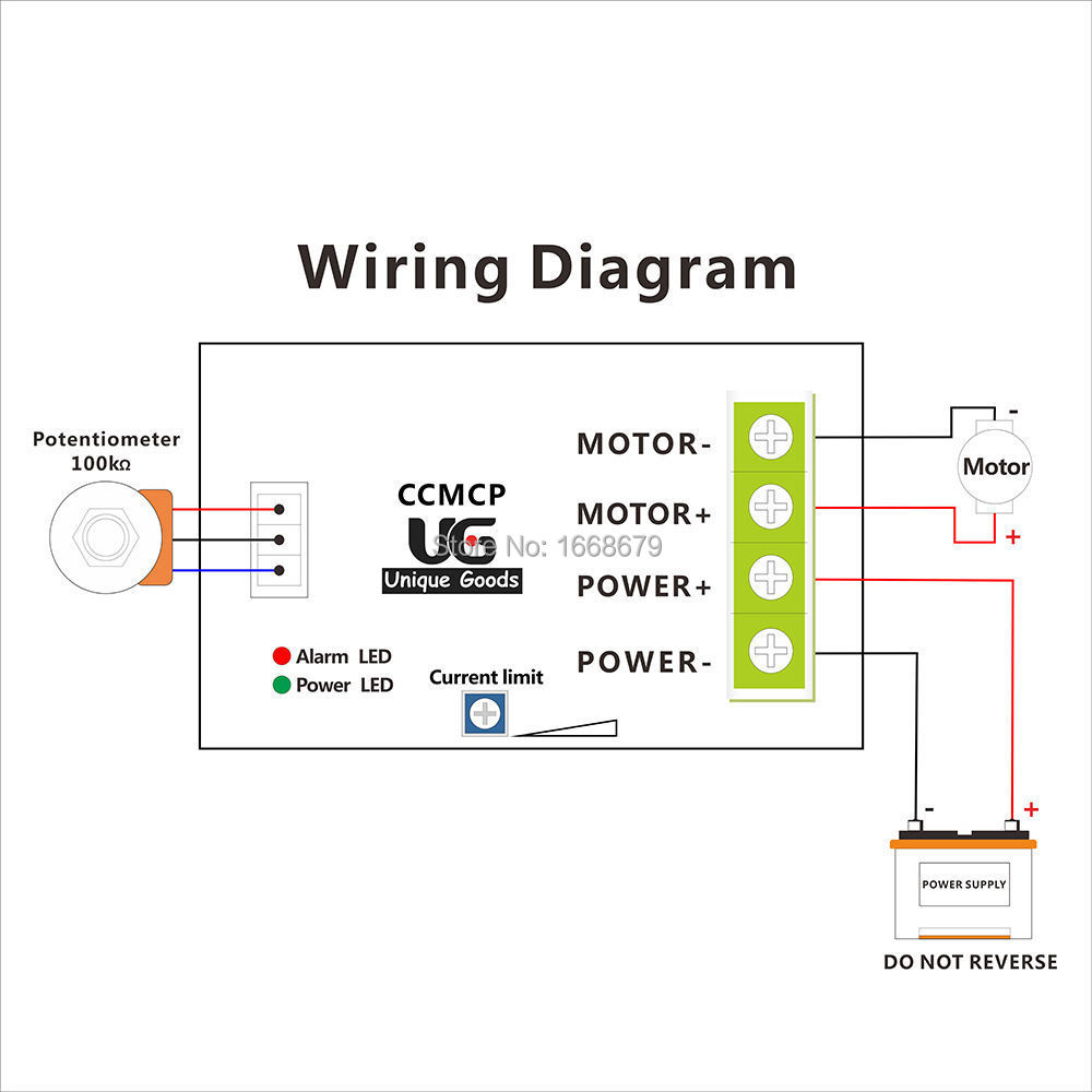 Pwm Motor Speed Controller Regulator Adjustable Current Overload Led Potentiometer Wiring Diagram Protector 12v 24v 10a In From Home Improvement On Alibaba