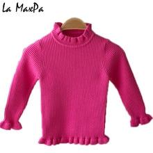 606f2b4c5 Turtleneck Kids Sweaters 2019 New Casual Solid Boys Girls Sweater 1 ...