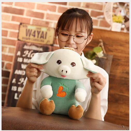 WYAZHY  New Year Gift Pig Mascot Down Cotton Doll Plush Toy Home Decoration Send Friends Children Gifts 30CM