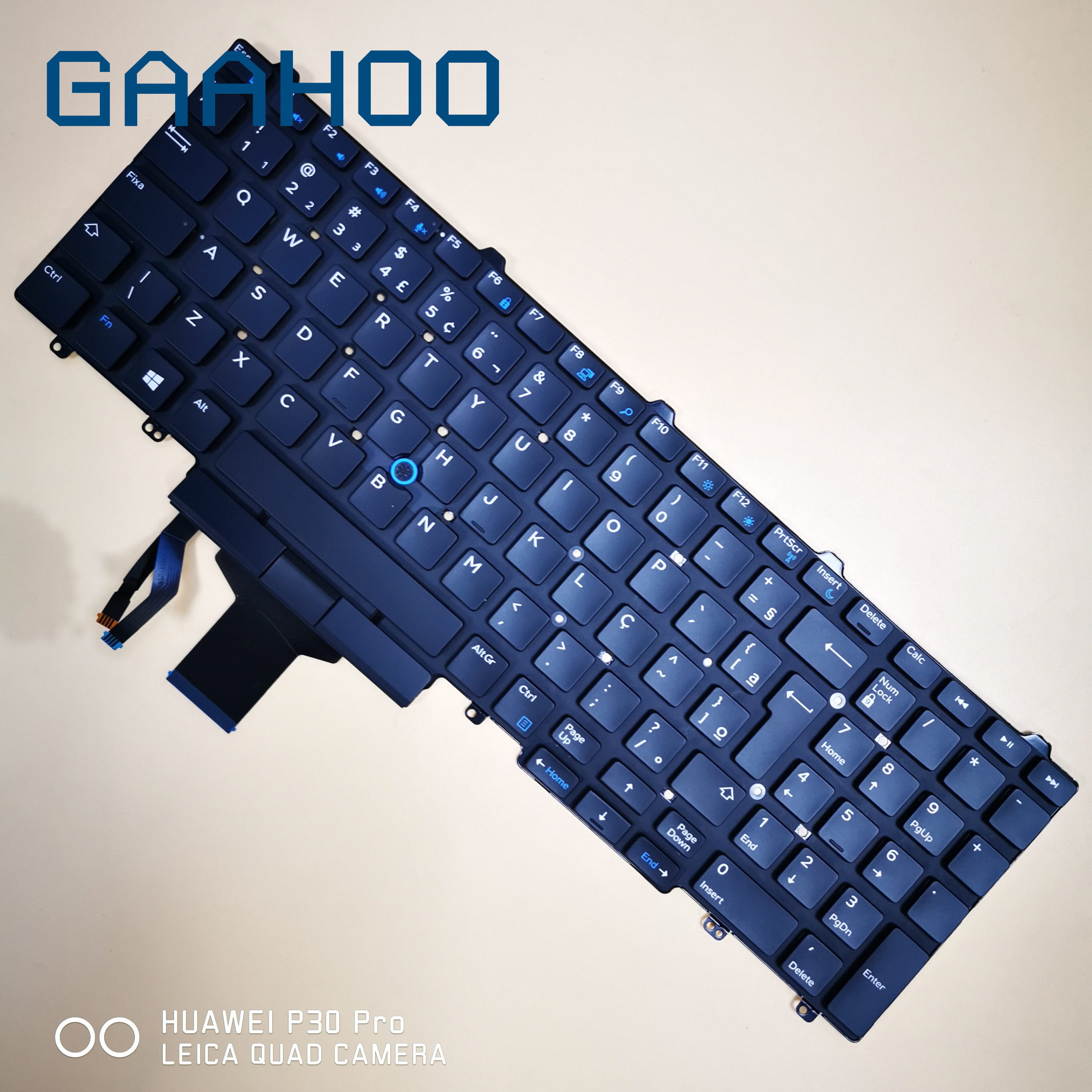 BR BRAZIL <font><b>keyboard</b></font> for <font><b>Dell</b></font> Latitude 5550 5570 5580 5590 5591 PRECISION 3510 <font><b>3520</b></font> 3530 7510 7520 7710 7720 LAPTOP w/ TRUCKPOINT image