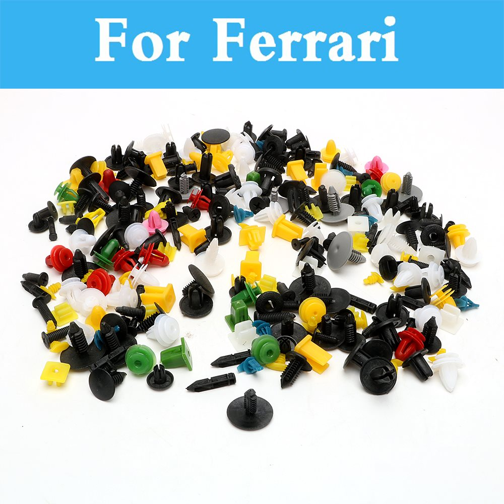 200pcs Car Plastic Cable Mount Clamp Clips Auto Wire Tie For Ferrari F430 Ff Laferrari 488 Gtb 575m 612 California F12berlinetta