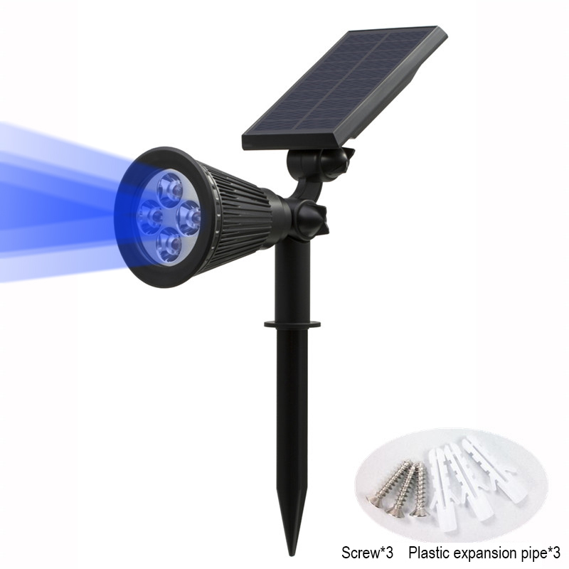 T SUN In Ground IP65 Solar Powered Spotlight with 4 to7 LEDs and Rechargeable Lithium Battery 45