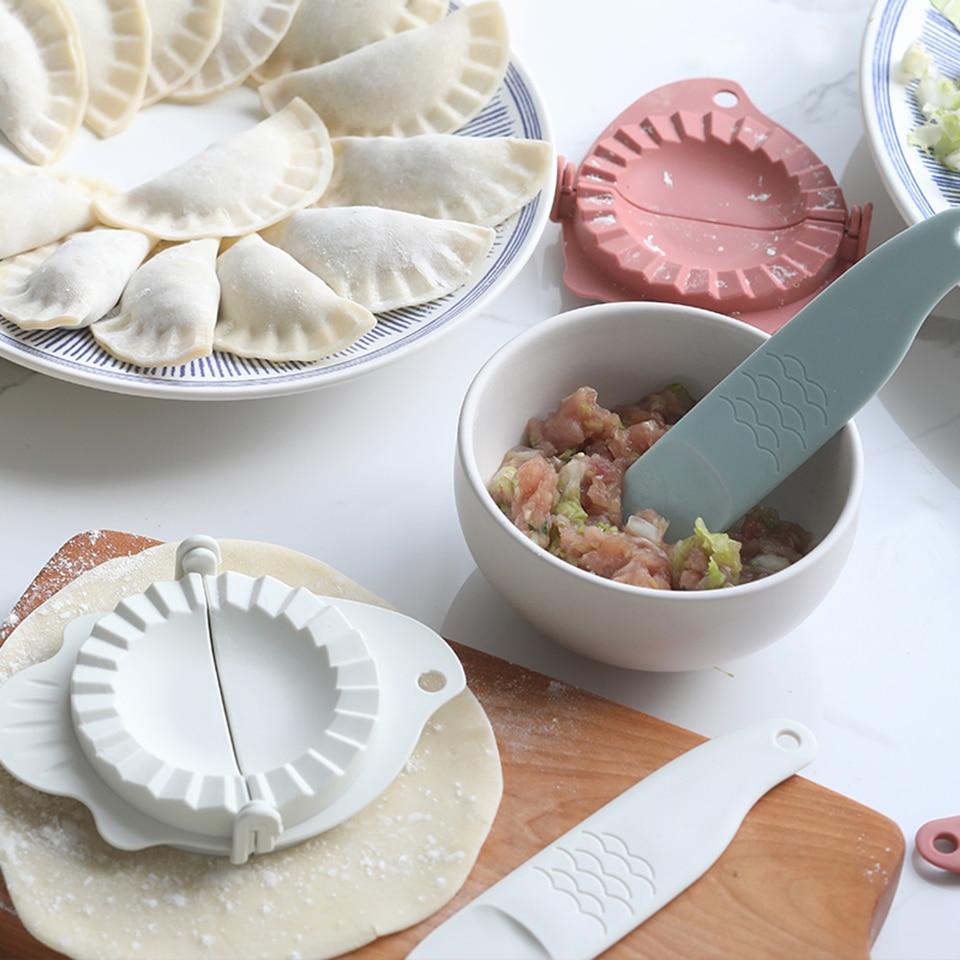 Acier Inoxydable Dumpling Maker Mould /& wraper pâte Presseur Gadget De Cuisine Outil