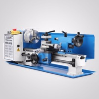 Variable Speed Mini Lathe high Precision Benchtop Metal Lathe Tool Machine Milling Digital Display