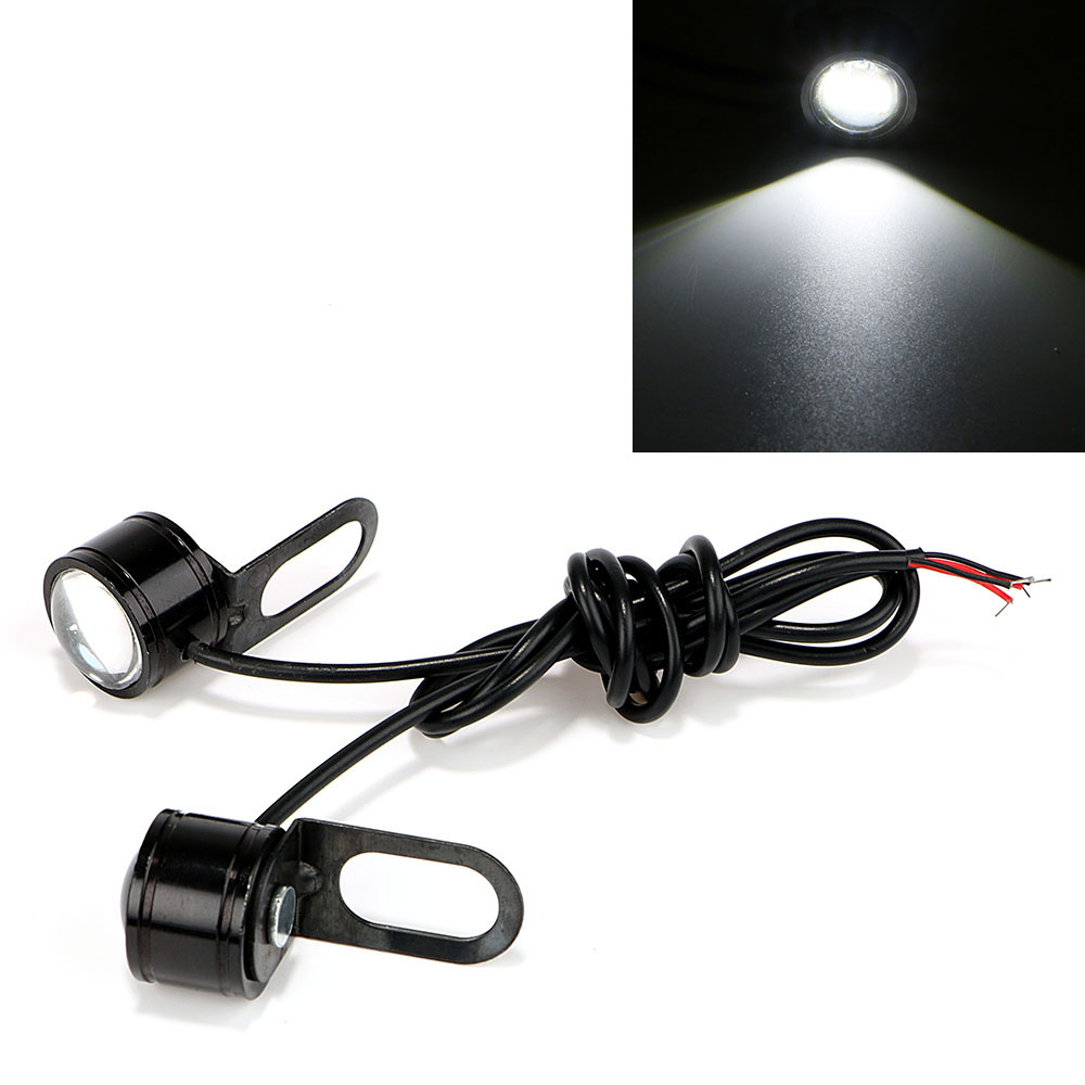 ITimo DRL Daytime Running Light LED Reverse Backup Light Motorcycle Fog Lamp Tail Lamp DC 12V 2PCS Super Bright Eagle Eye