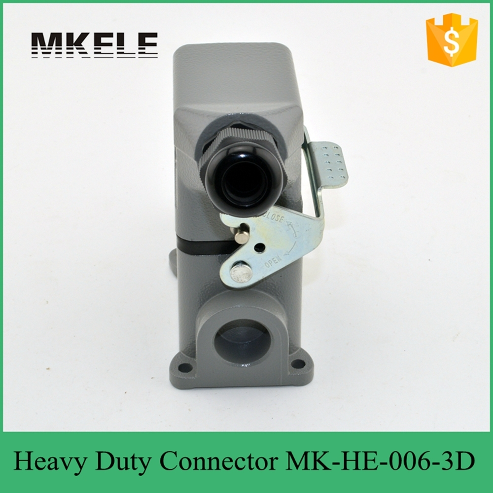 MK-HE-006-3D hot sale Cheap antique rectangular heavy duty dc power cable connector,heavy duty compression connector